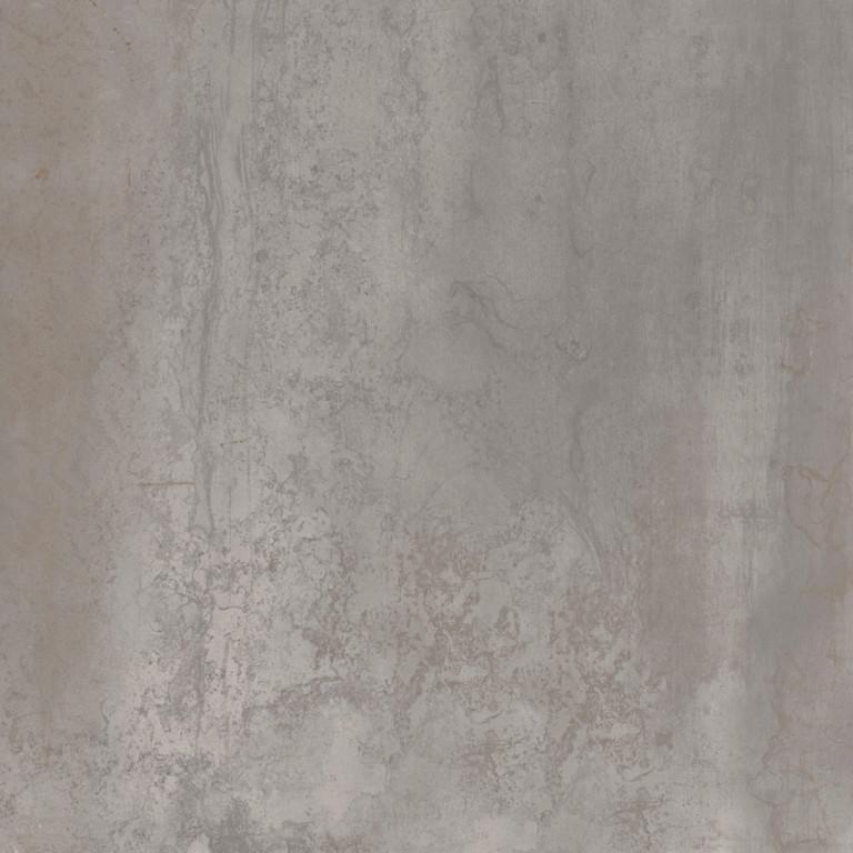 Velkoformátová dlažba v imitaci plechu MINERAL Silver rett. 75 x 75 cm