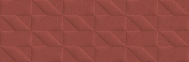 Matný barevný dekor OUTFIT Tetris 3D Red 25 x 76 cm