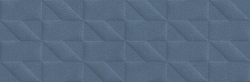 Matný barevný dekor OUTFIT Tetris 3D Blue 25 x 76 cm