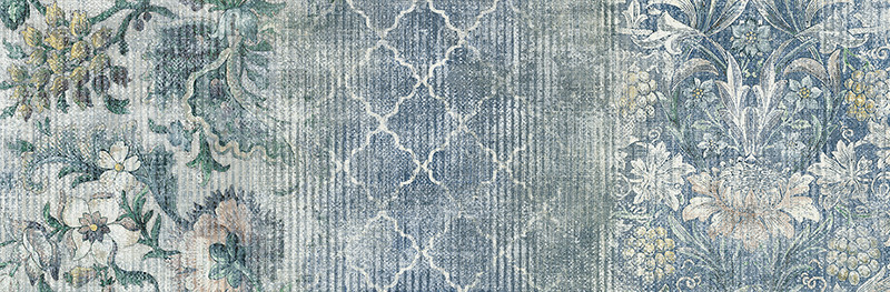 Matný patchworkový dekor OUTFIT Jacquard Ice 25 x 76 cm