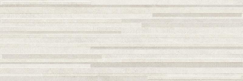 Matný rektifikovaný dekor v imitaci kamene DOVER White Block 3D 30 x 90 cm