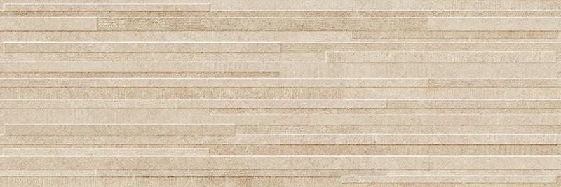 Matný rektifikovaný dekor v imitaci kamene DOVER Beige Block 3D 30 x 90 cm