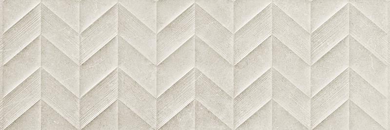 Matný rektifikovaný dekor v imitaci kamene DOVER Grey Spike 3D 30 x 90 cm