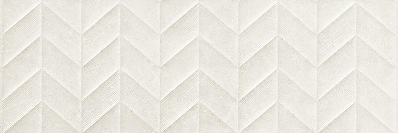 Matný rektifikovaný dekor v imitaci kamene DOVER White Spike 3D 30 x 90 cm