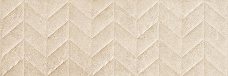 Matný rektifikovaný dekor v imitaci kamene DOVER Beige Spike 3D 30 x 90 cm