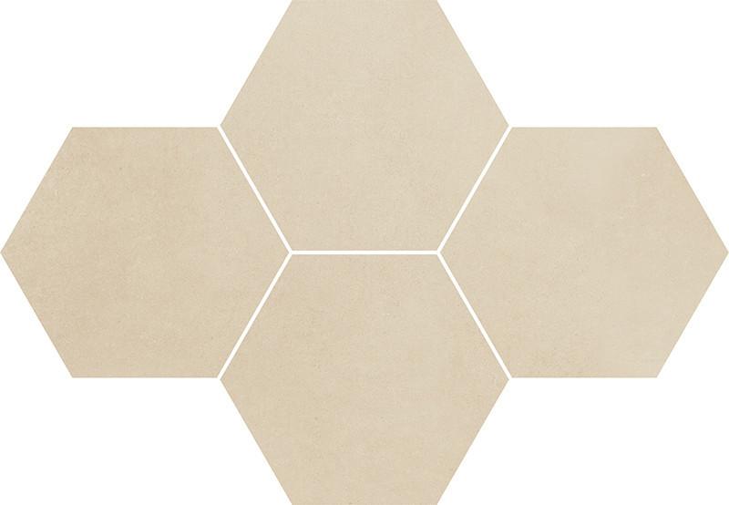 Hexagonová dlažba TOWN Beige 28,3 x 40,8 cm