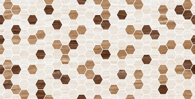 Lesklý dekor ZARA Hexagon 25 x 50 cm