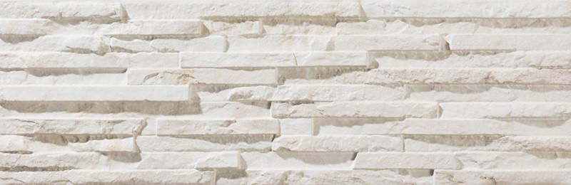 Mrazuvzdorný obklad imitace kamene BEHOBIA Blanco 17 x 52 cm
