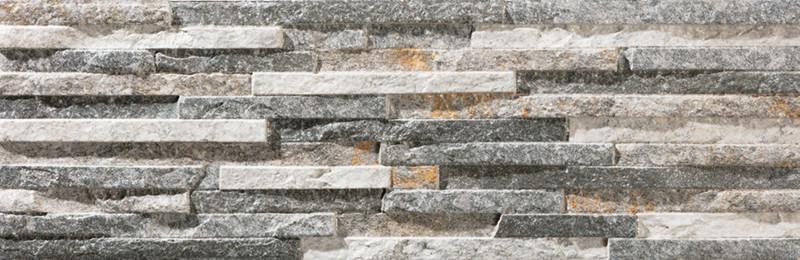 Mrazuvzdorný obklad imitace kamene BEHOBIA Gris 17 x 52 cm