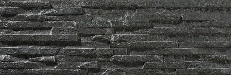 Mrazuvzdorný obklad imitace kamene BEHOBIA Negro 17 x 52 cm