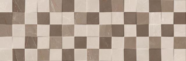 Lesklý dekor ELEGANT Mosaic 3D Crema 20 x 60 cm