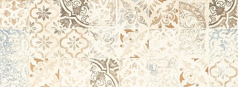 Matný rektifikovaný patchworkový dekor FREE SPACE 32,8 x 89,8 cm