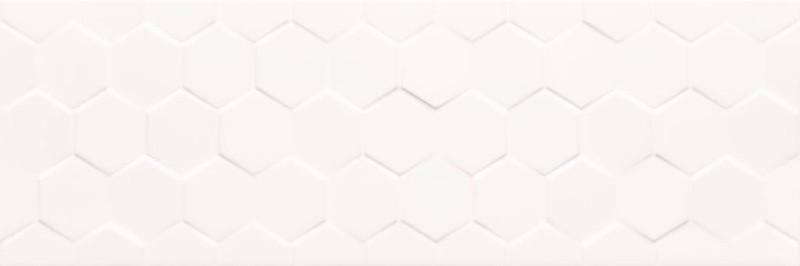 Velkoformátový obklad CHARISMA Hexagon White 25 x 75 cm