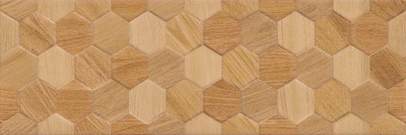 Velkoformátový obklad CHARISMA Hexagon Wood 25 x 75 cm