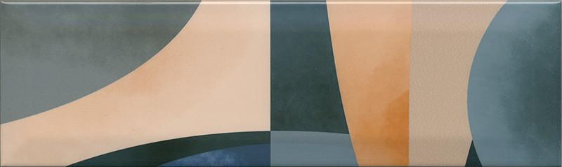 Interiérový lesklý dekor ACCORD A06 8,5 x 28,5 cm