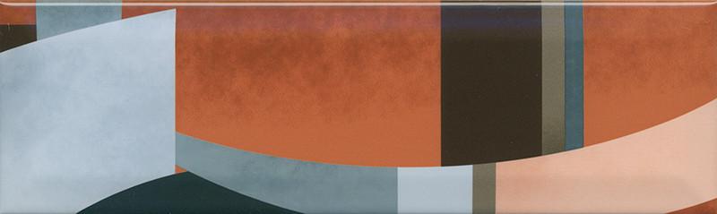 Interiérový lesklý dekor ACCORD A04 8,5 x 28,5 cm