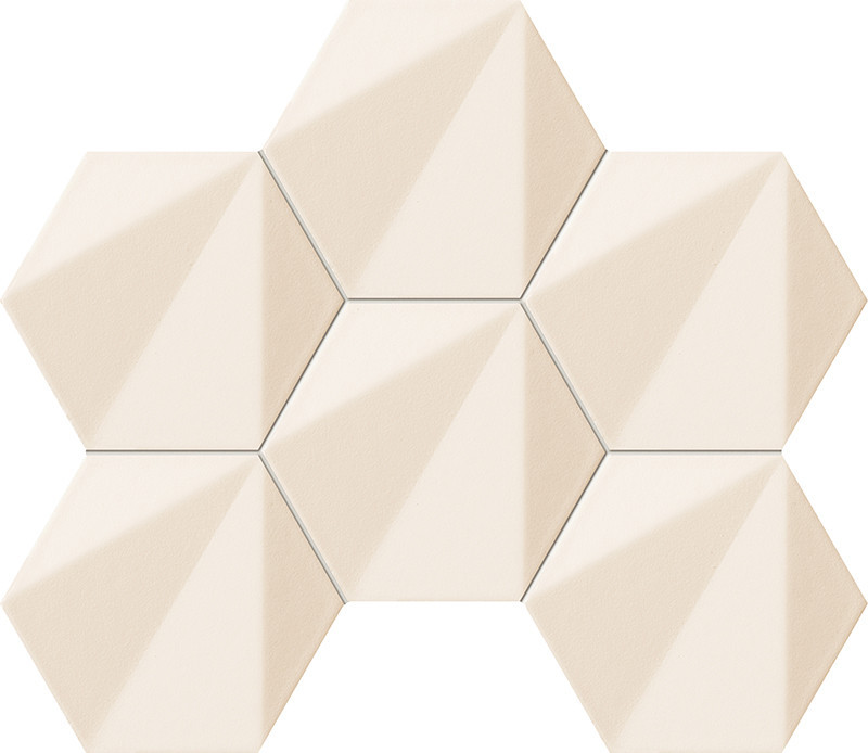 Hexagonový dekor BEAT OF WHITE, 28,9 x 22,1 cm