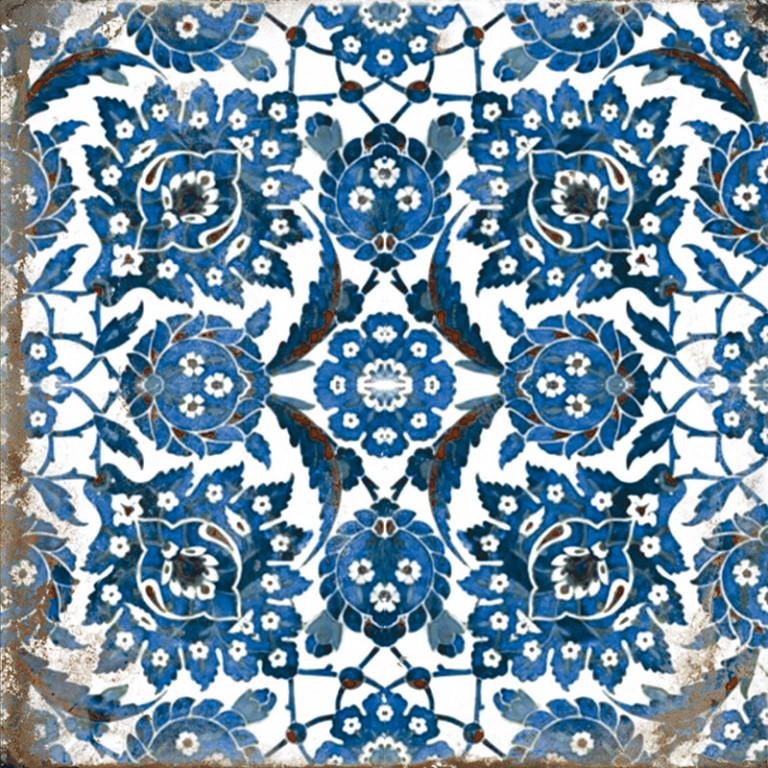 Lesklá retro dlažba MAIOLICHE Decor Mix 20x20 cm