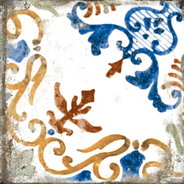 Lesklá retro dlažba MAIOLICHE Decor B 20x20 cm