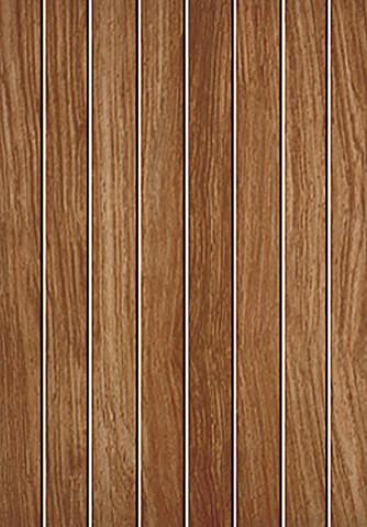 Matný dekor v imitaci dřeva MADEIRA Brown 25 x 36 cm