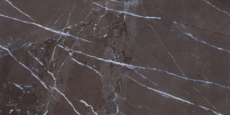 Lesklá rektifikovaná dlažba v imitaci mramoru MUSEUM Dark 60 x 120 cm