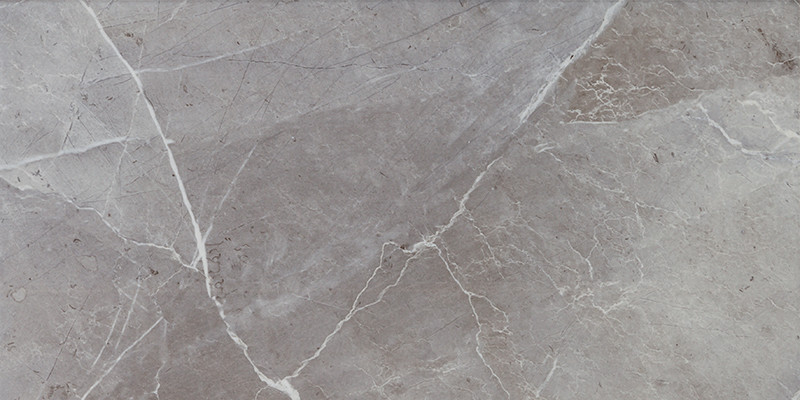 Lesklá rektifikovaná dlažba v imitaci mramoru MUSEUM Grey 60 x 120 cm