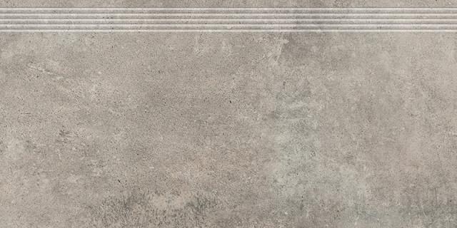 Schodovka v imitaci betonu GREY WIND Dark 30x60 cm rett.