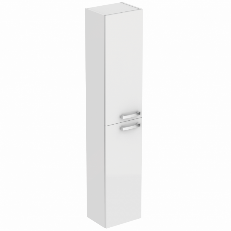 Přídavná závěsná vysoká skříňka TEMPO 150 x 30 cm, lesklá, bílá