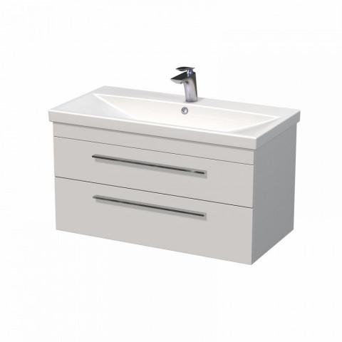 Skříňka ELITE 86 x 43 x 46 cm s umyvadlem 90 x 45 x 51 cm, bílá