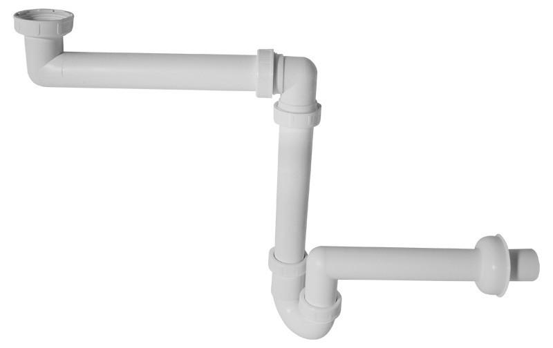 Prostorově úsporný umyvadlový sifon s převlečenou maticí A434