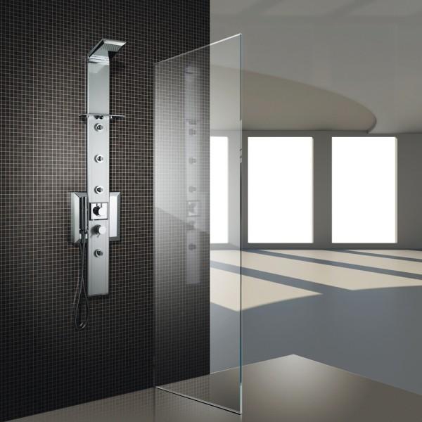 Nástěnný sprchový panel s termostatickou baterii PRISMA 140 s chromoterapií