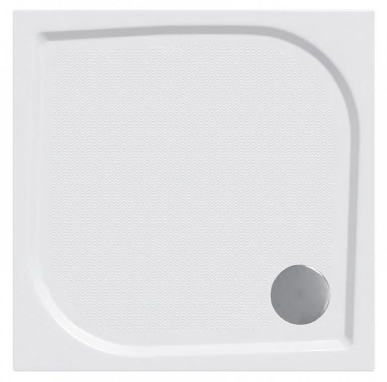 Protiskluzová sprchová vanička litý mramor čtverec 80x80x3 cm