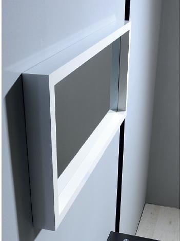 Zrcadlo v dřevěném bílém rámu MAJA bílá 90 x 30 cm