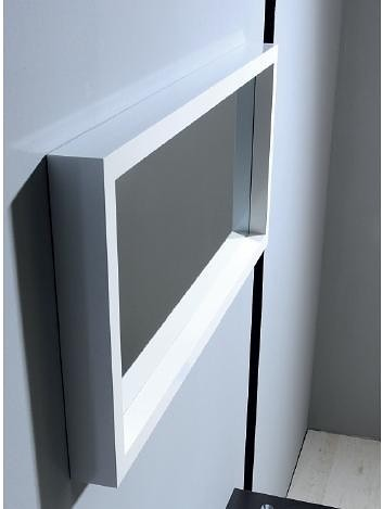 Zrcadlo v dřevěném bílém rámu MAJA bílá 90 x 40 cm