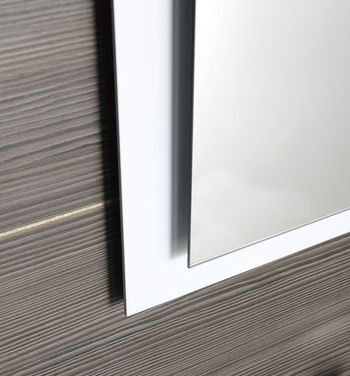 Zrcadlo s přesahem EMA s LED osvětlením, bílá 50 x 70 cm
