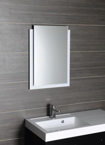 Zrcadlo s přesahem EMA s RGB LED osvětlením, bílá 50 x 70 cm