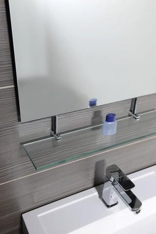 Obdélníkové zrcadlo WEGA s policí 70 x 80 cm