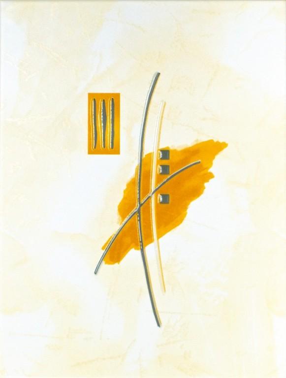 Dekor IVANA Střed oranžový 25 x 33 cm