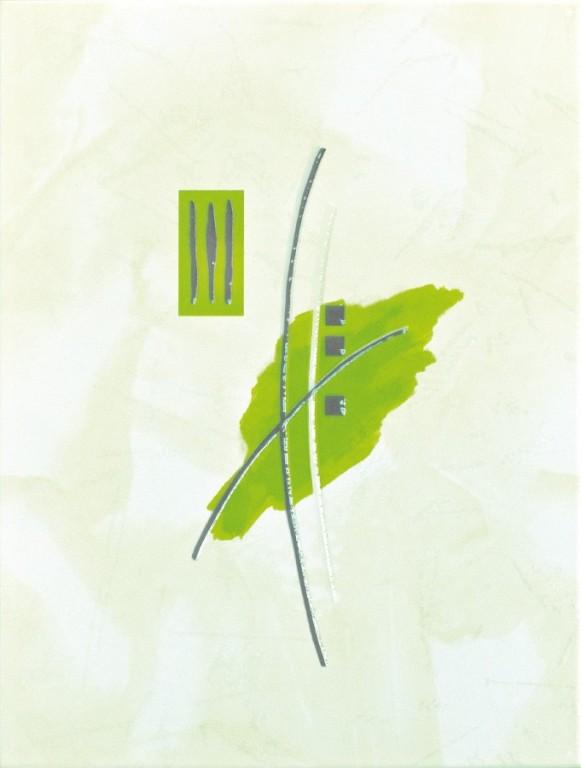 Dekor IVANA Střed zelený 25 x 33 cm