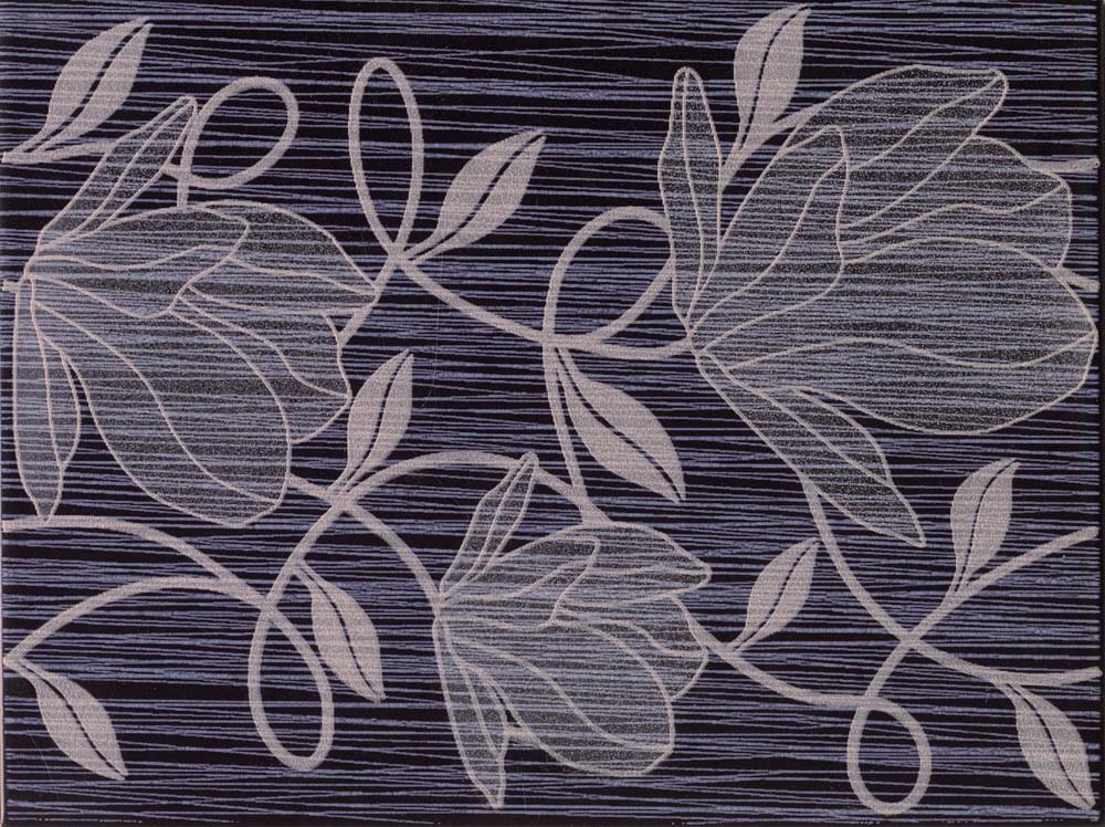 Květinový dekor RONDA Black 25 x 33 cm