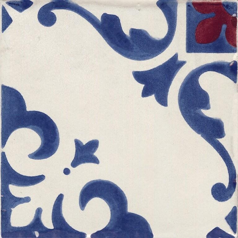 Dekor JOLIE Trama Blanc/Bleu C/4