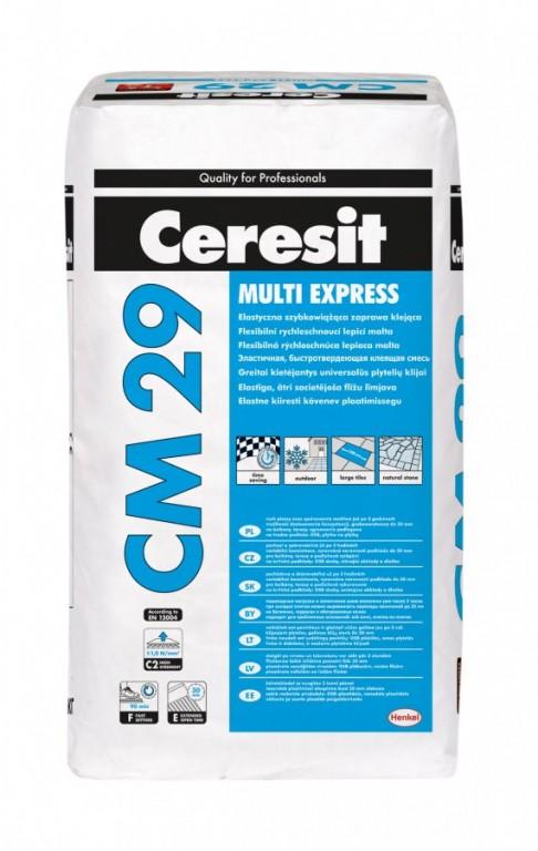 Rychleschnoucí zlepšené lepidlo CM 29 Multi Express