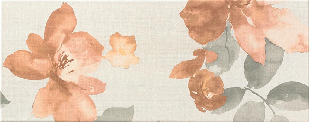 Květinový dekor TEXTILE 52 Flower 20 x 50 cm