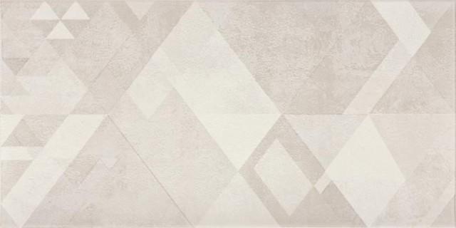 Dekor TRIANGLE, 20 x 40 cm, Šedá - WITMB048 č.1