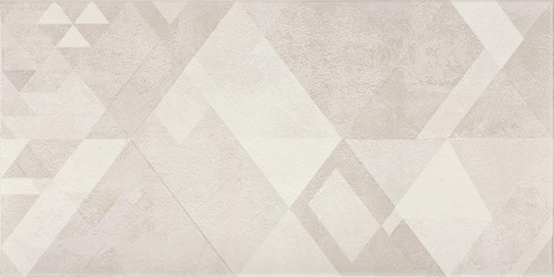 Dekor TRIANGLE, 20 x 40 cm, Šedá - WITMB048