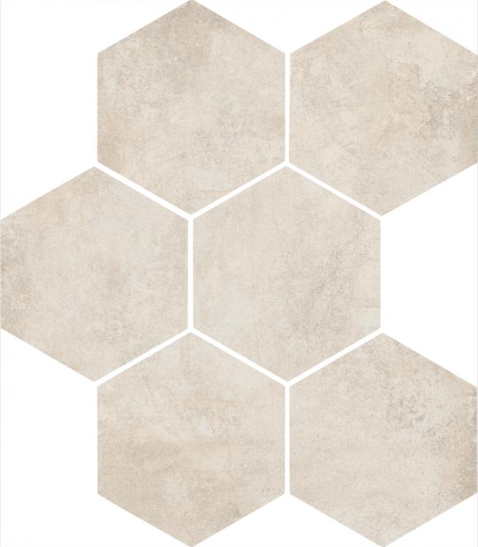 Šestiúhelníková dlažba CLAYS HEXAGON Cotton 21 x 18,2 cm