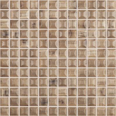 Skleněná mozaika imitace dřeva WOODS Cerezo 3D