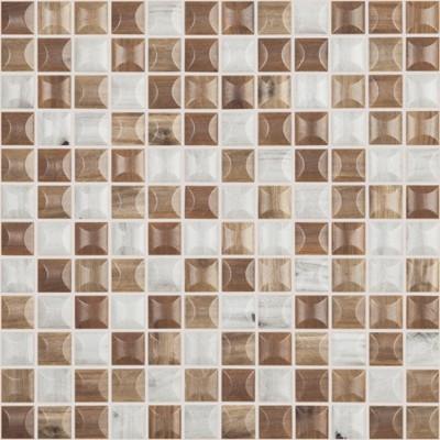 Skleněná mozaika imitace dřeva WOODS Edna Blend 3D