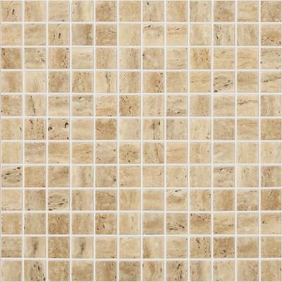 Skleněná mozaika imitace kamene STONES Travertino Beige