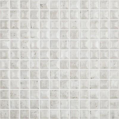 Skleněná mozaika imitace kamene STONES Edna Travertino Bone 3D